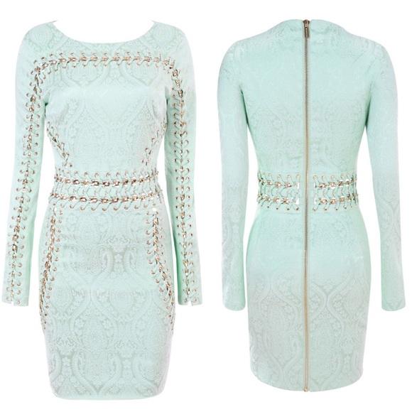 5e1ce0acaf15 House of CB Dresses   Jacquard Mint Dress   Poshmark